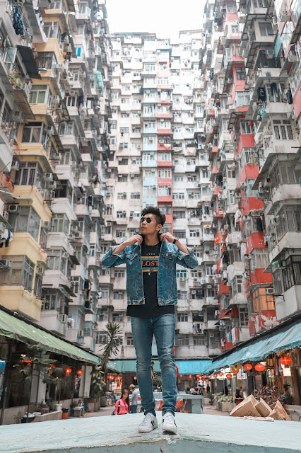 Leo Chan, Levitate Style, wearing Denim Look in Hong Kong