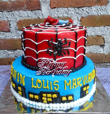 New Kue Ultah 2017 Terbagus Dan Kekinian Utk Anak - Anak, Cake Model Spiderman