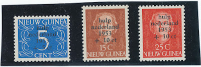 Netherlands New Guinea 1953 Watersnood ramp stamp