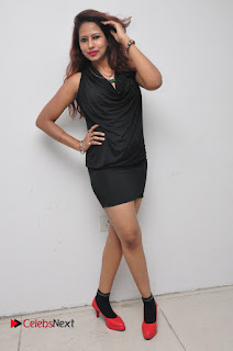 Model Sonia Pictures in Black Dress at Yes Mart Event  0038