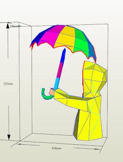 garotinha e guarda chuva