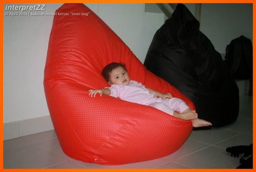 Kerusi bean bag merah murah.