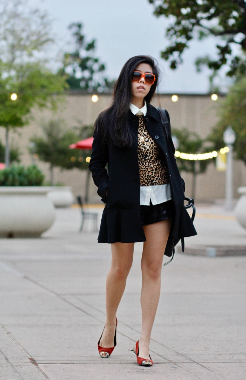 How to Wear a Leopard Crop Top with Sequin Tap Shorts_Adrienne Nguyen San Diego Blogger