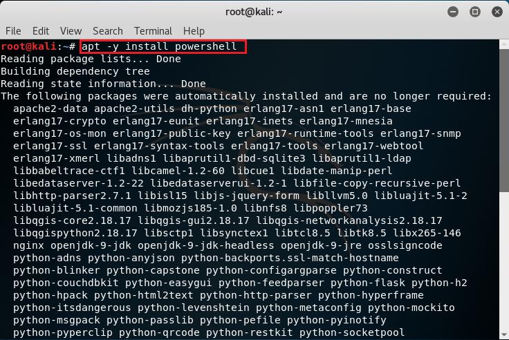 Installazione pacchetto PowerShell