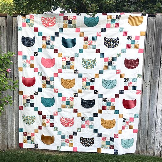 Cats & Scraps Quilt Free Pattern designed by Amanda, aka Jedi Craft Girl