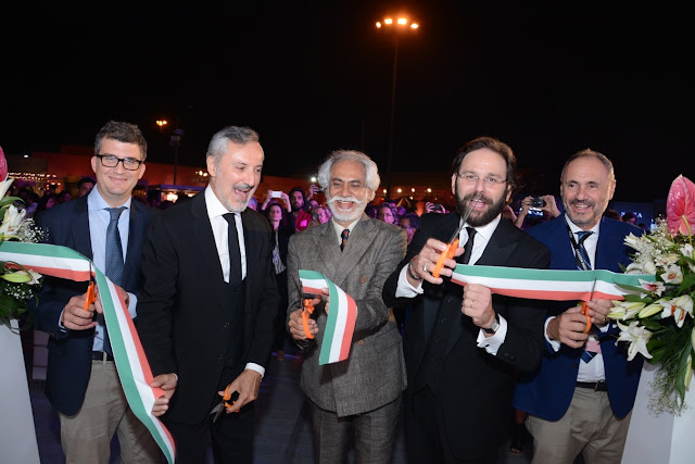 Tommaso Cancellara, Lorenzo Angeloni (Ambassador of Italy to India),Sunil Sethi President FDCI, Francesco Pensabene, Trade Commissioner to India,AND Riccardo Braccialini