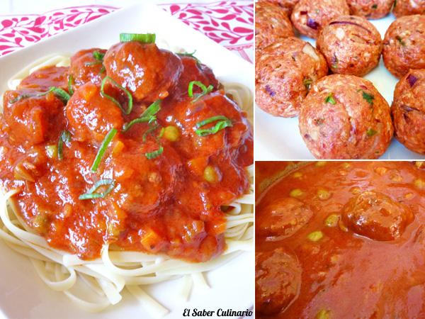 Albóndigas de carne con salsa de tomate estilo búfalo