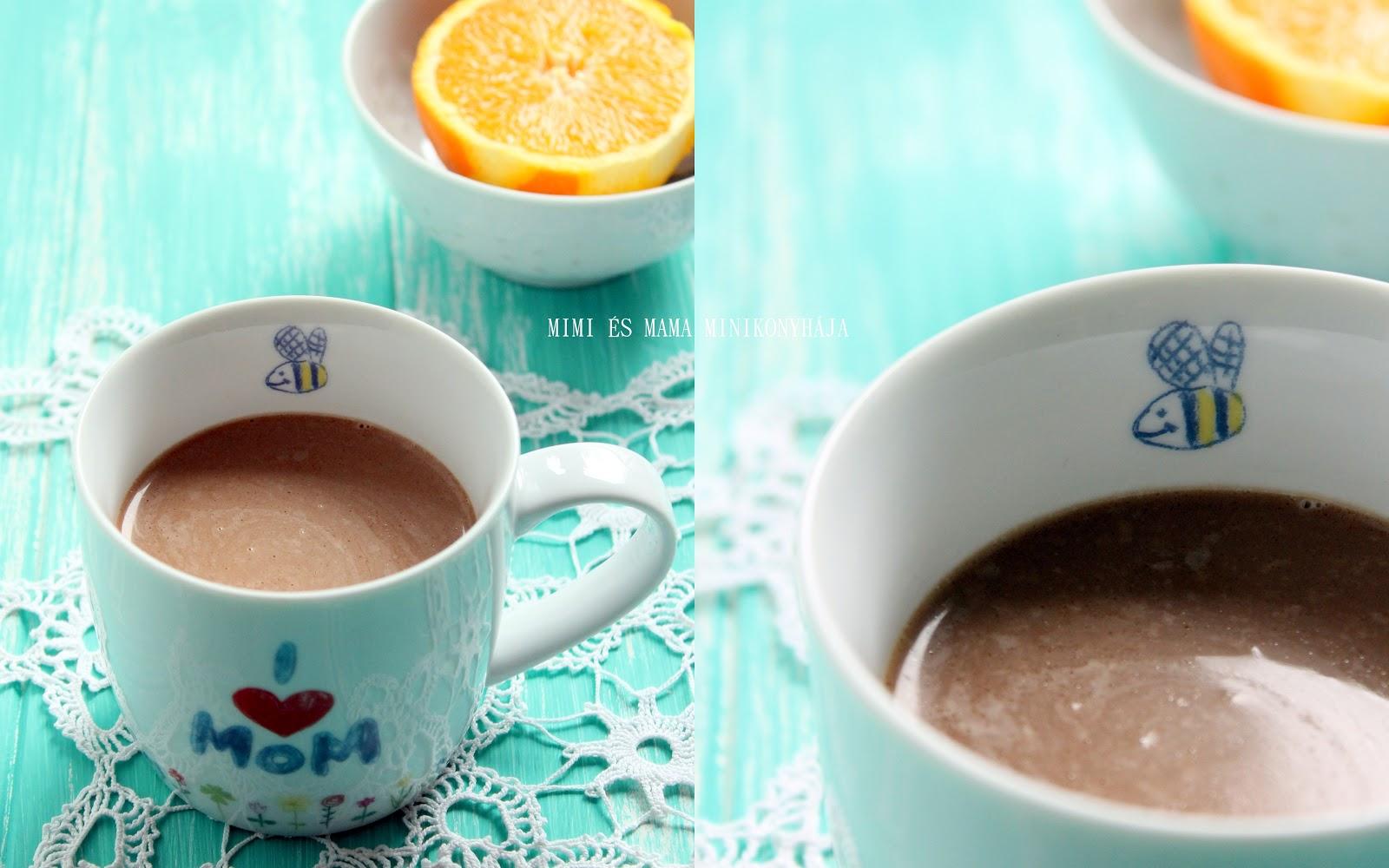 Narancsos forró csokoládé