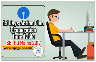 15 Days Action Plan - Preparation Time Table for SBI PO Mains 2017