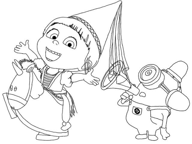 Ba da web meu malvado favorito 3 desenhos para colorir for Immagini dei minions da colorare