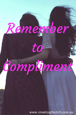 Wind-Back Wednesday ~ Remembering to give those little compliments - they mean the world