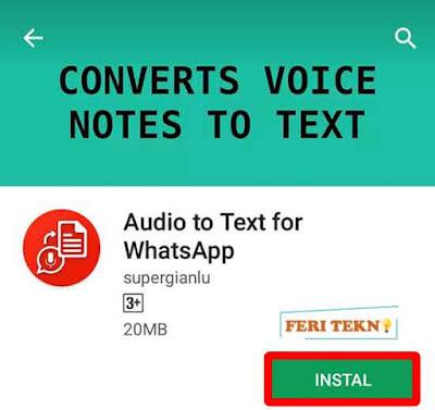 Merubah Suara Menjadi Teks - Feri Tekno