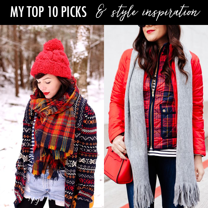 winter plaid outfits