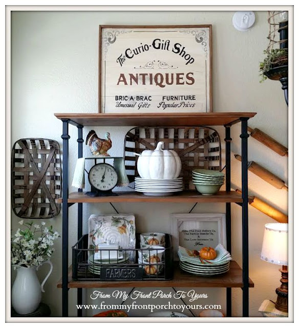 Fall Sneak Peek- Fall In The Kitchen- Farmhouse Fall Kitchen-From My Front Porch To Yours