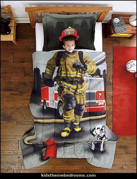 fireman bedding fire truck bedroom decor - Firefighter bedding - fireman bedding - fire truck bedroom decorating ideas - flames bedding - Fire Engine Beds - Fire truck bedrooms - dalmatian theme bedrooms