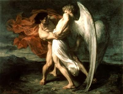 יעקב נאבק במלאך - אלכסנדר לואיס ללואר - 1865