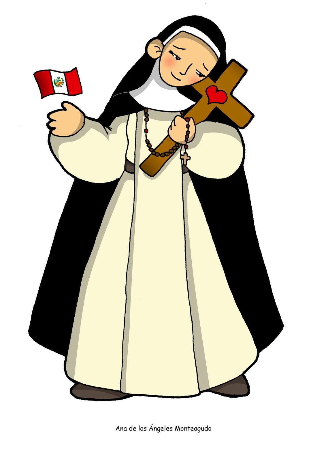 Santoral Católico ®: IMAGEN PARA COLOREAR DE LA BEATA ANA DE LOS ...