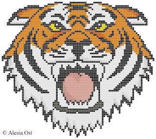 Free cross-stitch patterns, War Face, tiger, animal, clipart, cross-stitch, back stitch, cross-stitch scheme, free pattern, x-stitchmagic.blogspot.it, вышивка крестиком, бесплатная схема, punto croce, schemi punto croce gratis, DMC, blocks, symbols, patrones punto de cruz, #crossstitch_pattern, #crossstitch