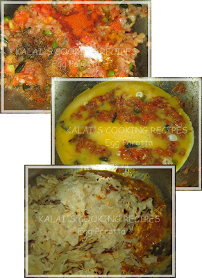 200th Post - Kalai's Egg Parotta