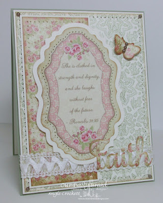 ODBD Boho Paisley Background, ODBD Custom Faith Hope and Love Dies, ODBD Custom Vintage Labels Dies, ODBD Custom Vintage Flourish Pattern Dies, ODBD Custom Butterfly and Bugs Dies, ODBD Blushing Rose Paper Collection, Card Designer Angie Crockett