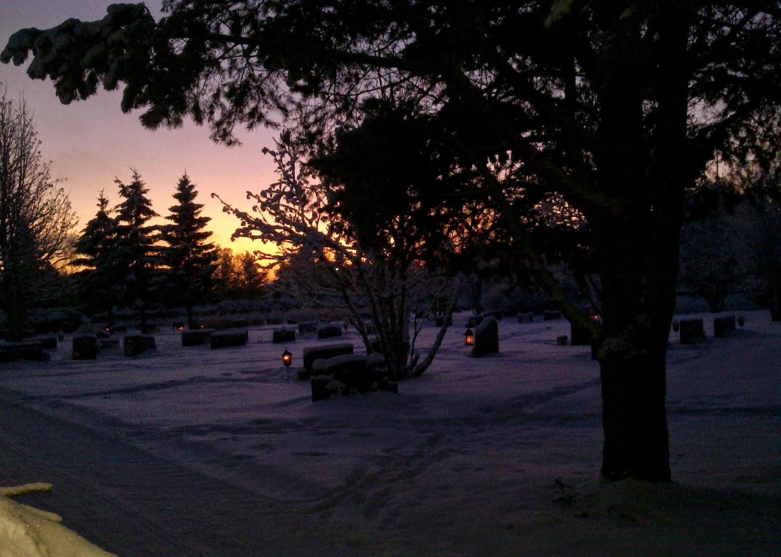 hautausmaa, talvi