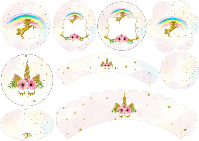 Unicorn Party: Free Printable Wrappers and Toppers for ...