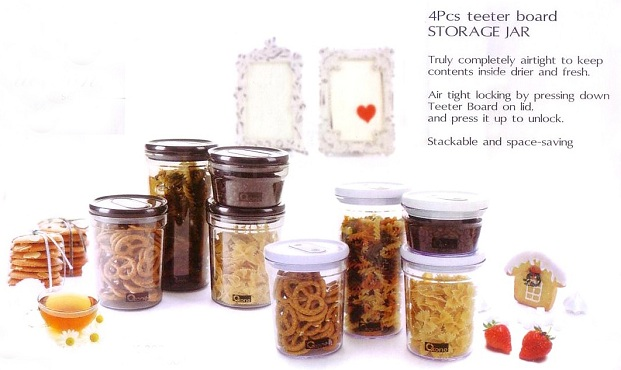 OX-302 4Pcs Teeter Board STORAGE JAR Oxone