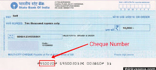 Cheque number slip me daale