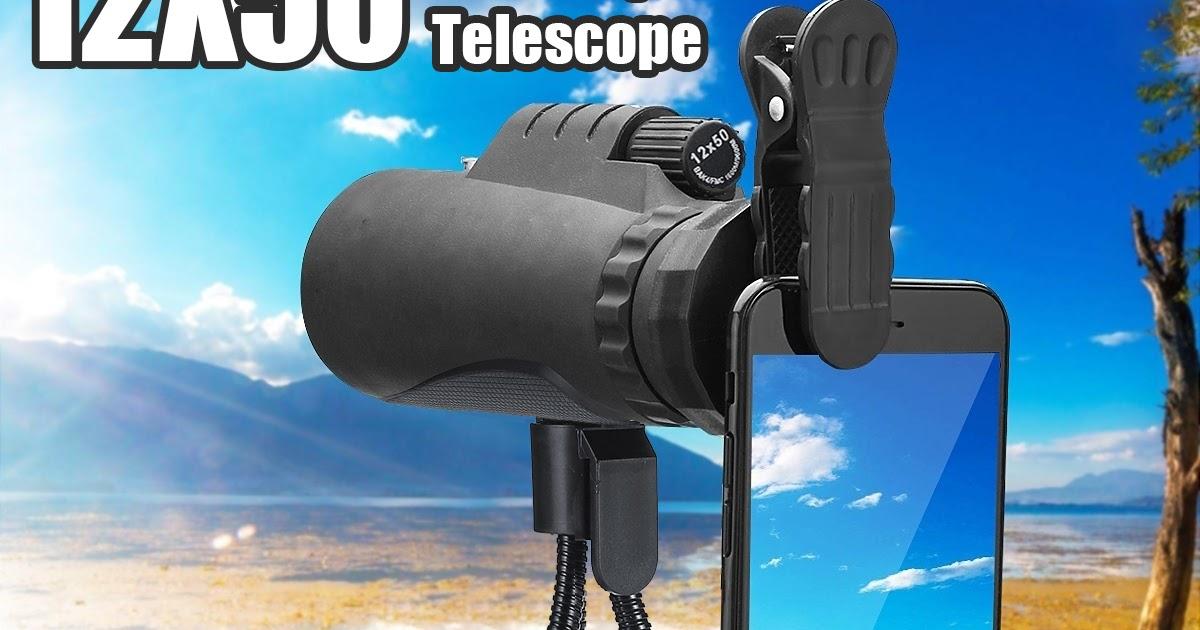 Outdoor monocular optical hd lens camping telescope tripod