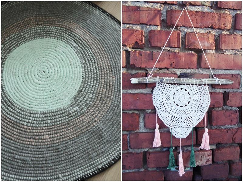 dywanik z recyklingowej włóczki t-shirt yarn