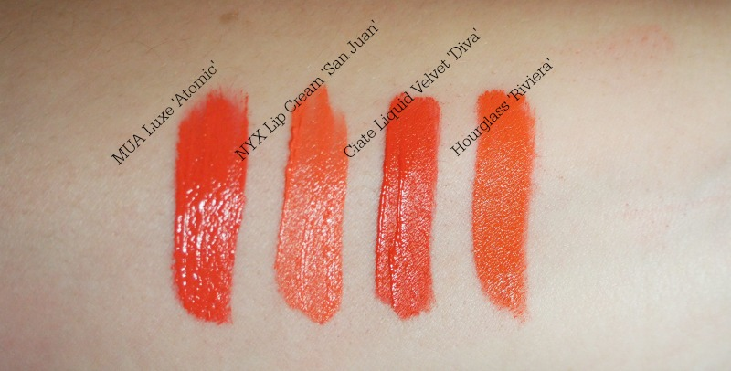 the best liquid lipstick orange swatches