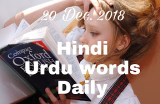 Daily hindi words