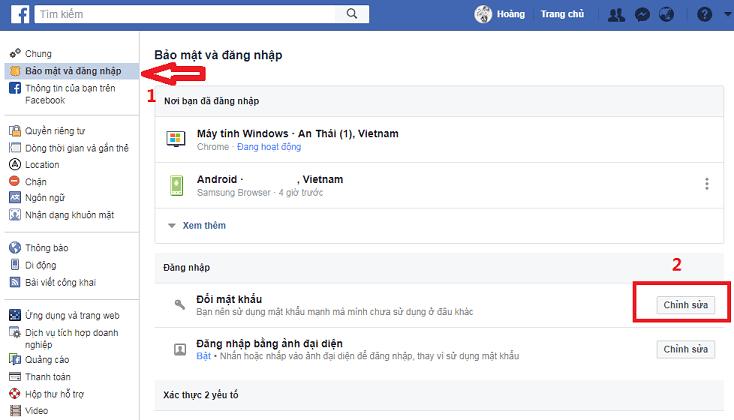 doi mat khau FB