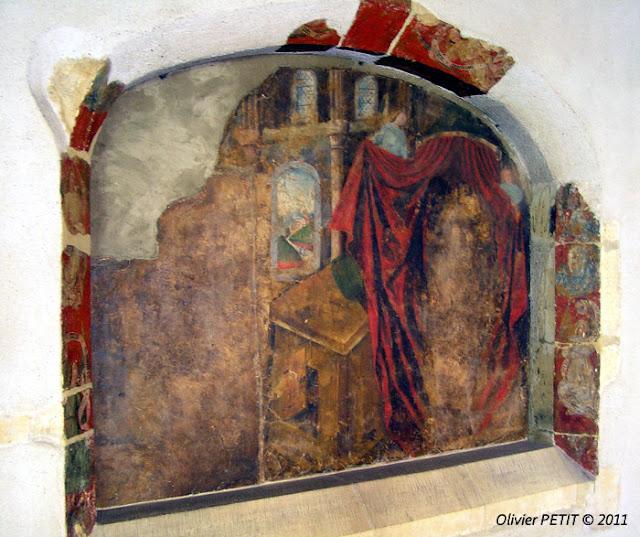 METZ (57) - Le cloître des Récollets - Enfeu, fresque