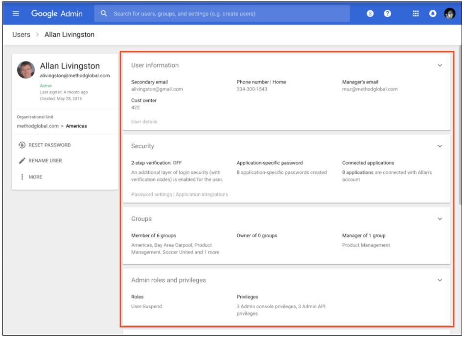 G Suite Updates Blog: Improved user management in the Admin console