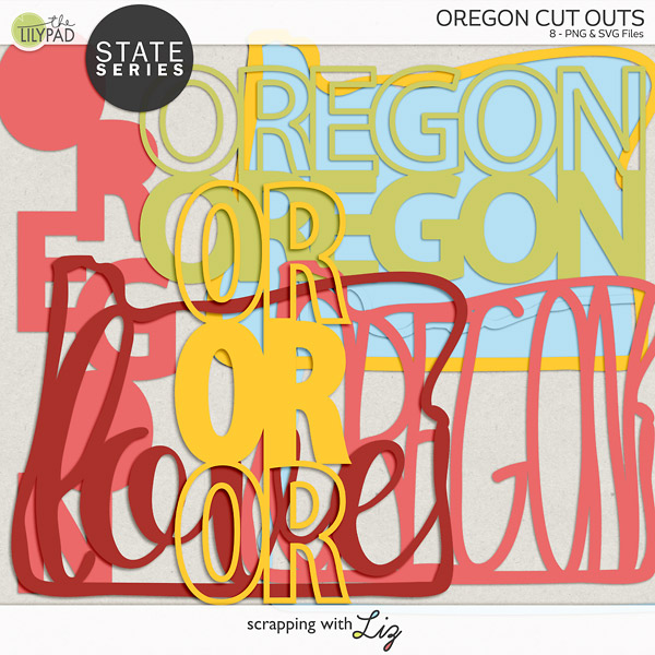 Digital Scrapbook Oregon Cut Outs