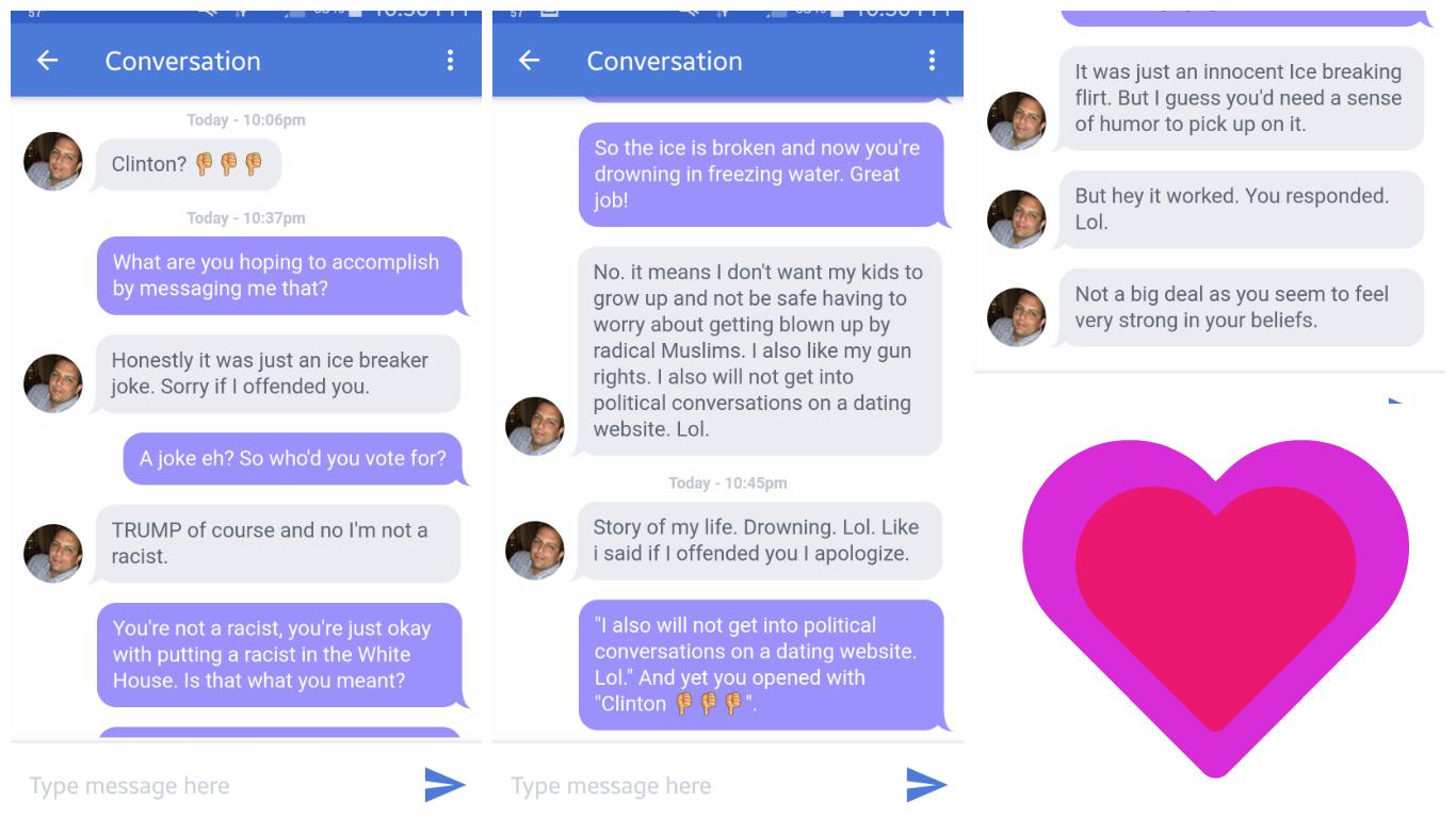 Fascist dating site