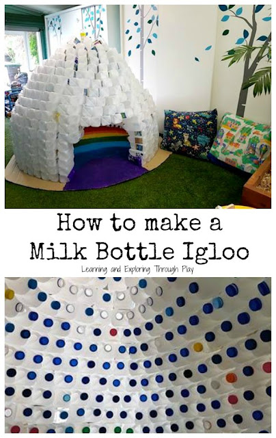 Milk Bottle Igloo - Role Play Area Ideas - Winter Theme