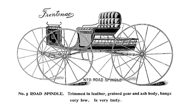 1895 Road Spindle by Frontenac advertising