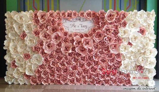Bodas de papel flor de papel