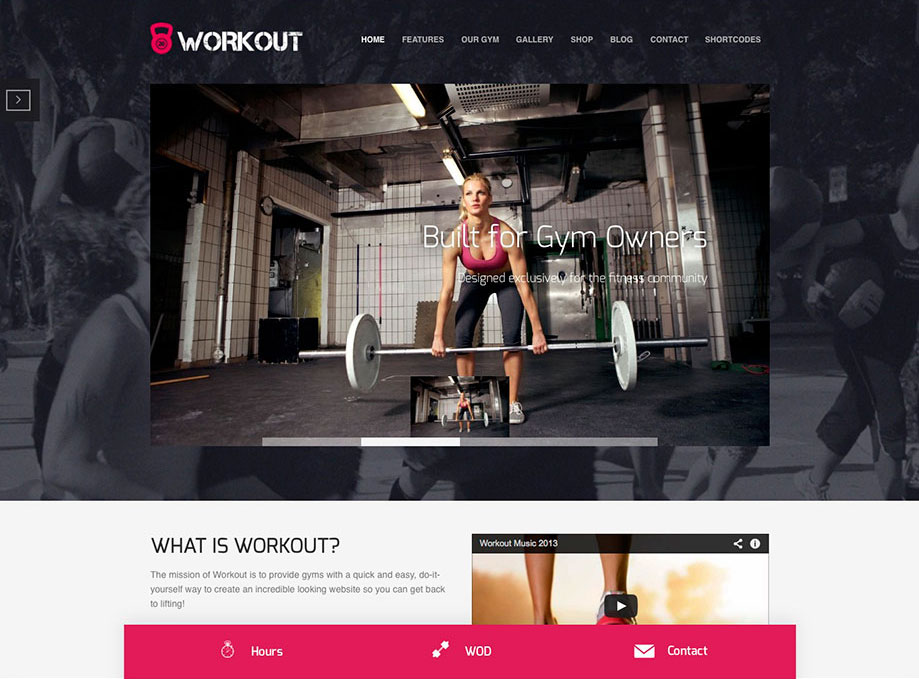 Workout Fitness/Gym WordPress Theme