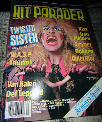 Twisted Sister on the cover of Hit Parader magazine March 1986