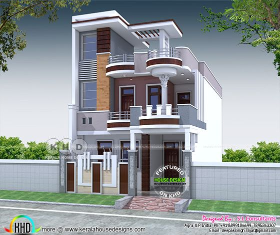 Modern Indian Architecture Google Search: 4 BHK 2200 Sq-ft Contemporary Style North Indian Home