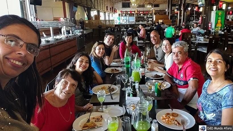 Almoço no restaurante Rio Rinto - Vinícolas chilenas - Valle Casablanca