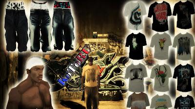 pack de roupas estilo hiphop swag gta sa hd
