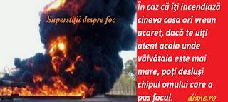 Superstiţii despre foc, incendiere