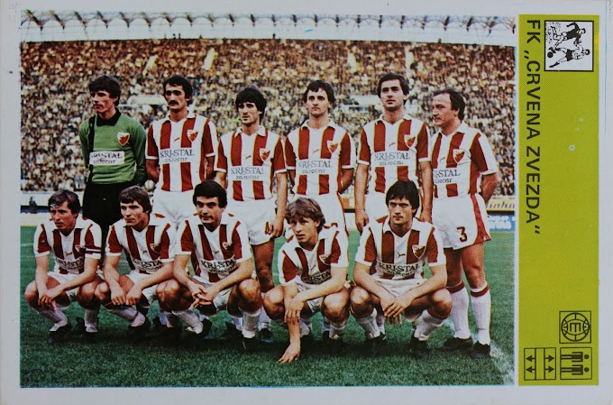 ETOILE ROUGE de BELGRADE 1980-81.