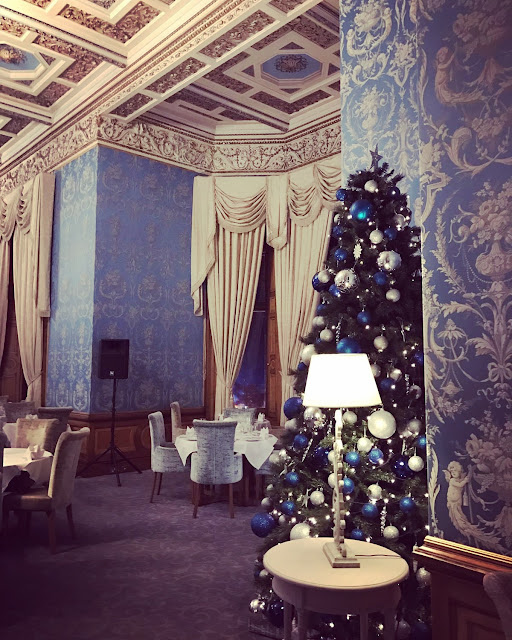 The Blue Room at Thoresby Hall, Nottinghamshire