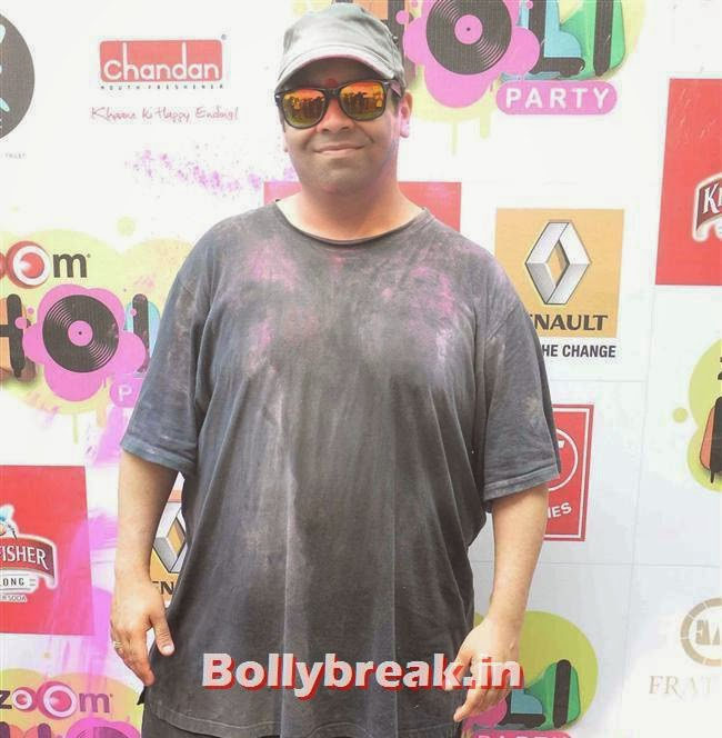 Kiku Sharda, Sunny, Tanisha, Poonam & Kainaat at Zoom Holi Party 2014