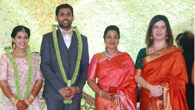 Radhika-sarathkumar-Rayaen-aadhav-kannadasan-vinodhnie-wedding-reception